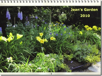 Jean's Garden 2010 calendar cover (photo credit: Jean Potuchek)