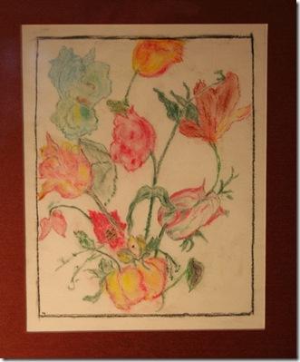 Flower study by Catherine (Kitty) Grafflin (photo credit: Jean Potuchek)