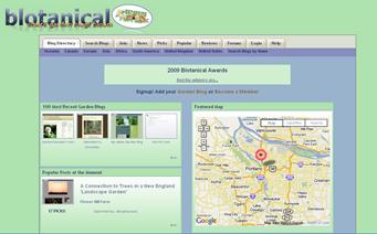 Blotanical front page screenshot