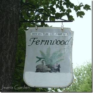 Sign marking the entrance to Fernwood (photo credit: Jean Potuchek)