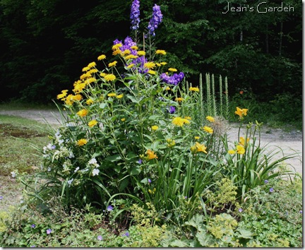 Circular bed in July (photo credit: Jean Potuchek)
