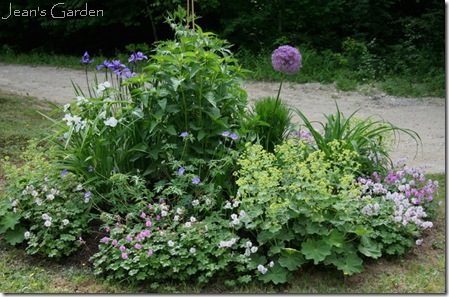 Circular bed in June (photo credit: Jean Potuchek)