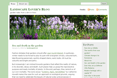 screenshot - Landscape Lover's Blog