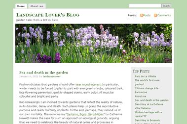 screenshot - Landscape Lover's Blog