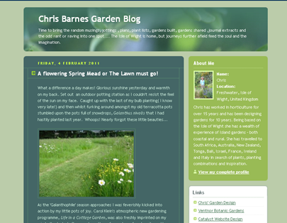 screenshot - Chris Barnes Garden Blog
