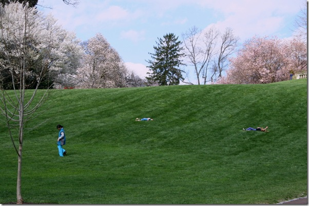 Children enjoying a fine spring day at Chanticleer (photo credit: Jean Potuchek)
