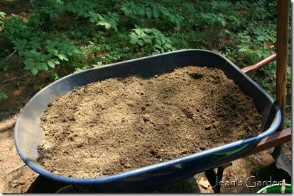 Preparing to amend the soil (photo credit: Jean Potuchek)