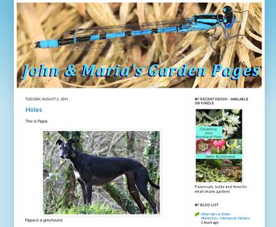 screenshot - John and Maria's Garden Pages