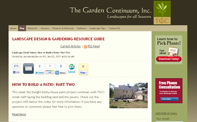 screenshot - Landscape Design & Gardening Resource Guide