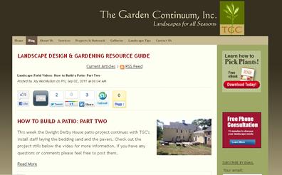 screenshot - Landscape Design & Gardening Resource Guide