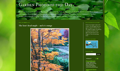 screenshot - Garden Photo of the Day