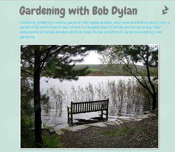screenshot - Gardening with Bob Dylan