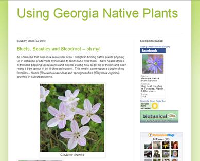 screenshot - Using Georgia Native Plants
