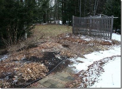 Melting snow in the garden, March 2012 (photo credit: Jean Potuchek)