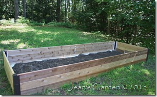 raised bed with part dirt