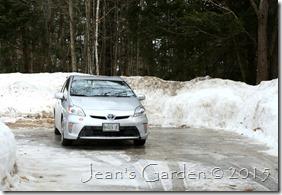driveway snow banks