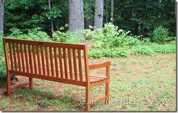 serenity with bench