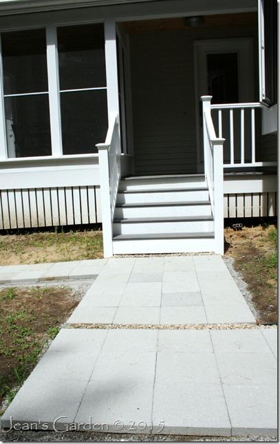 hardscape front walkway redo