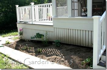 porch border 1st plants