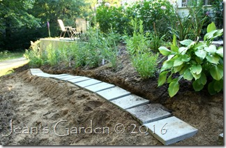 side slope upper planting