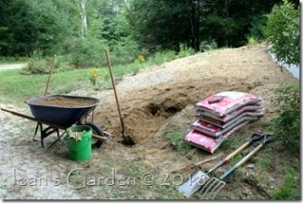 front slope digging