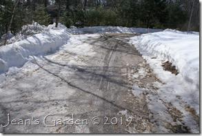 driveway ice to mud